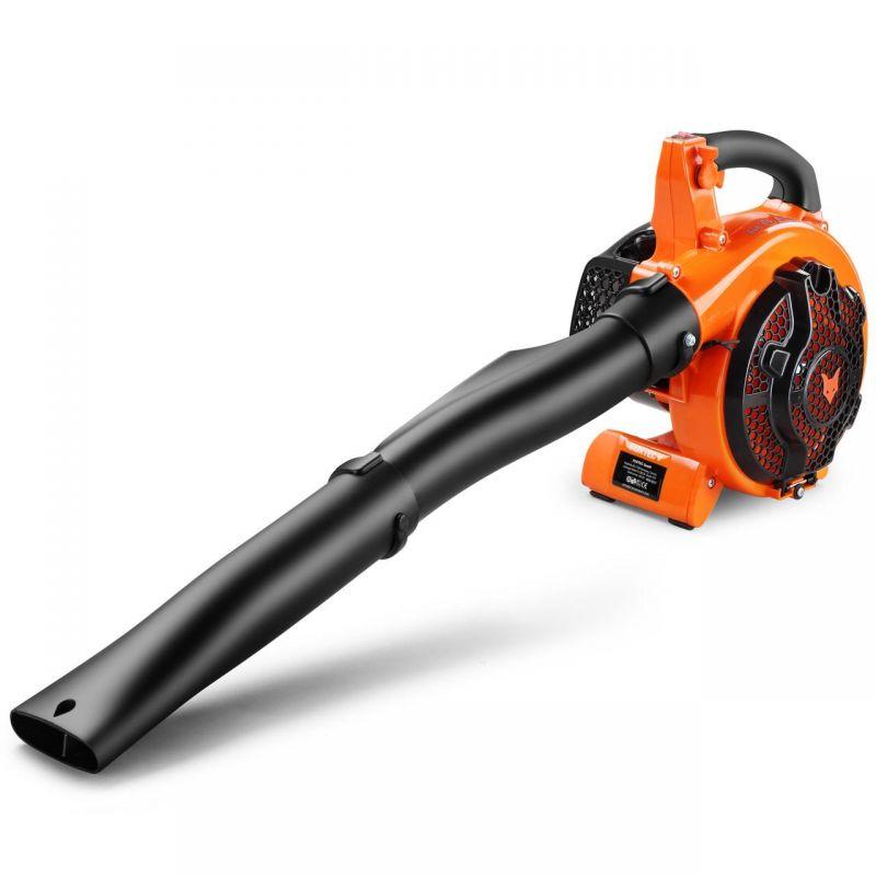 Laubbläser in orange/ schwarz von Fuxtec
